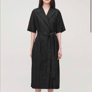 COS SIZE 4 black wrap dress